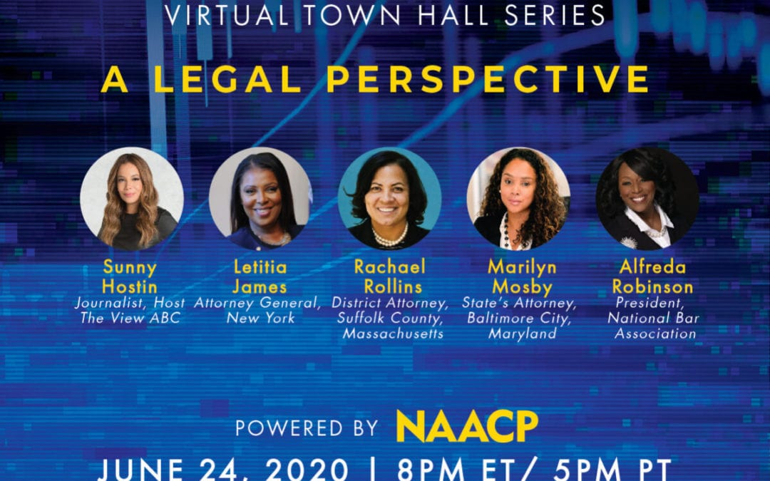 NAACP Set To Host Virtual Town Hall on the Legal Perspective of the Global Health Crisis, Protests and Incidents of Hate Crimes