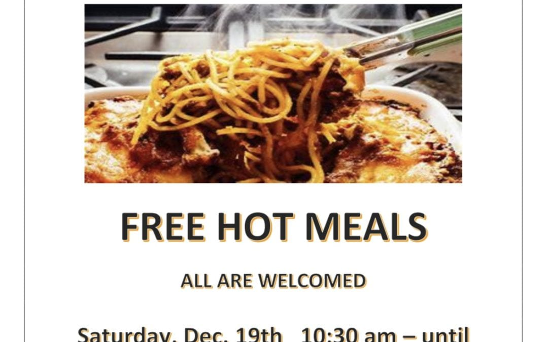 Giving Back – Free Hot Meals