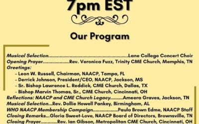 William H. Graves, Sr. 42nd Bishop of the CME Church NAACP Membership Drive